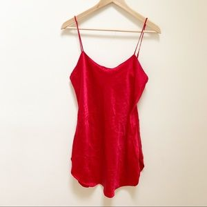 Victoria Secret 100% silk red chemises M